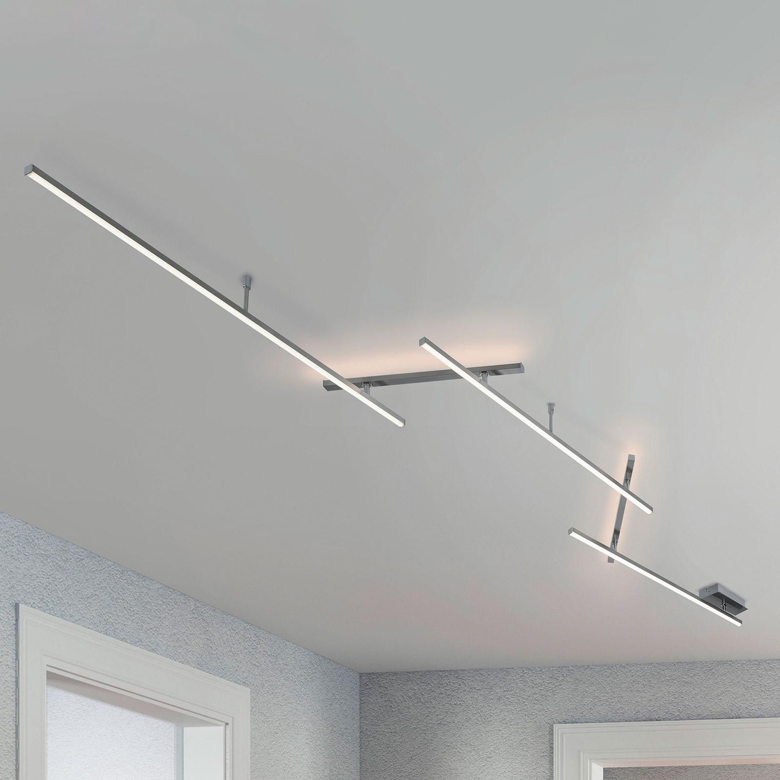 Schwenkbare LED-Deckenlampe Indira m. Dimmfunktion