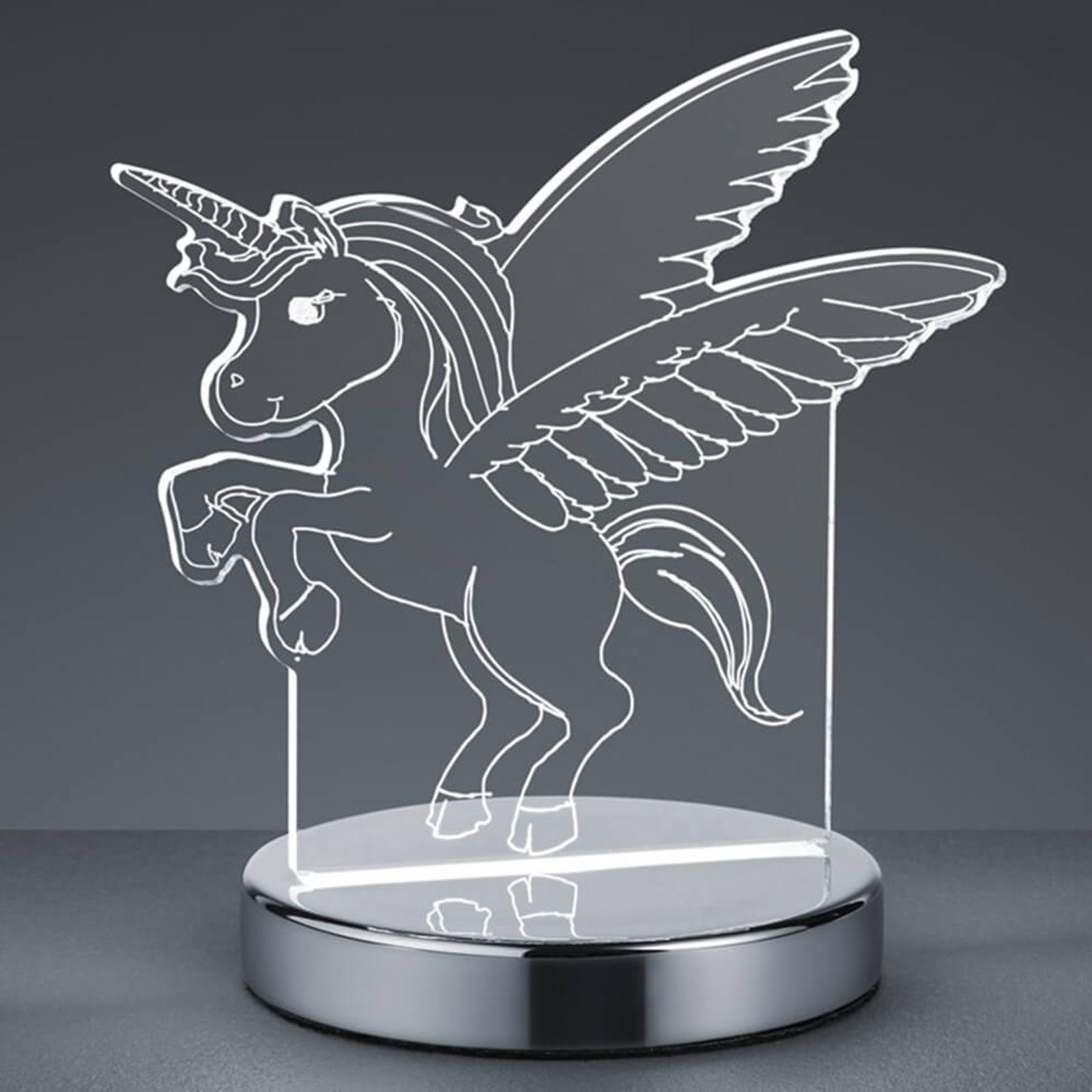 3d Hologramm Tischleuchte Karo M Einhorn Motiv Kaufen Lampenwelt De