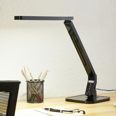 Arcchio Liano lámpara de mesa LED, negro