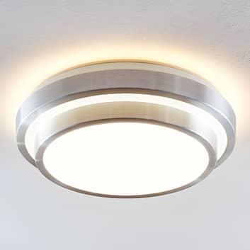 Lindby Naima LED-Alu-Deckenlampe, rund, 2-stufig