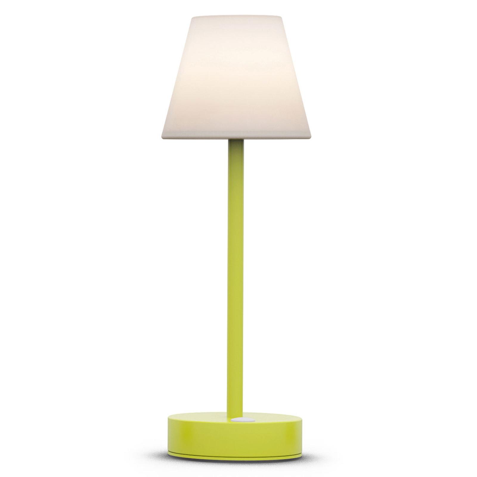 Newgarden Lola Slim LED-bordslampa batteri, lime