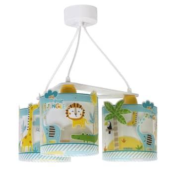 Lampa wisząca dziecięca Little Jungle, 3-punktowa