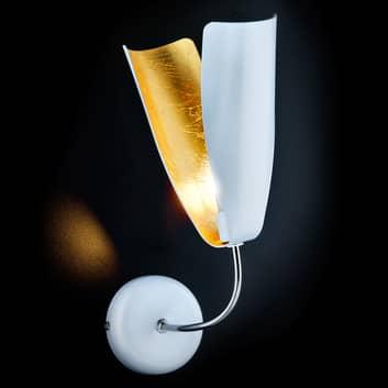 Vägglampa Tropic med bladguld