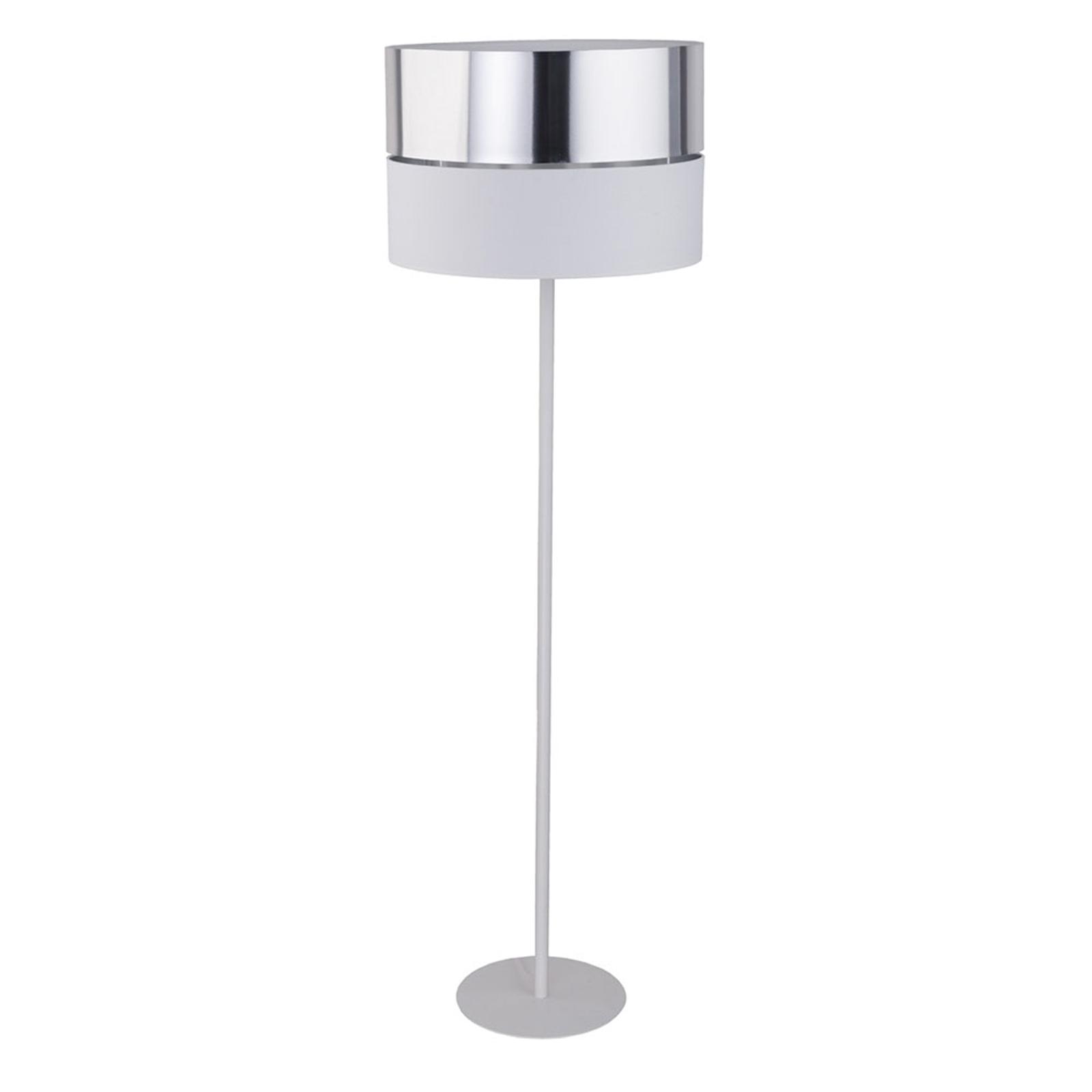 Hilton gulvlampe, hvit/sølv