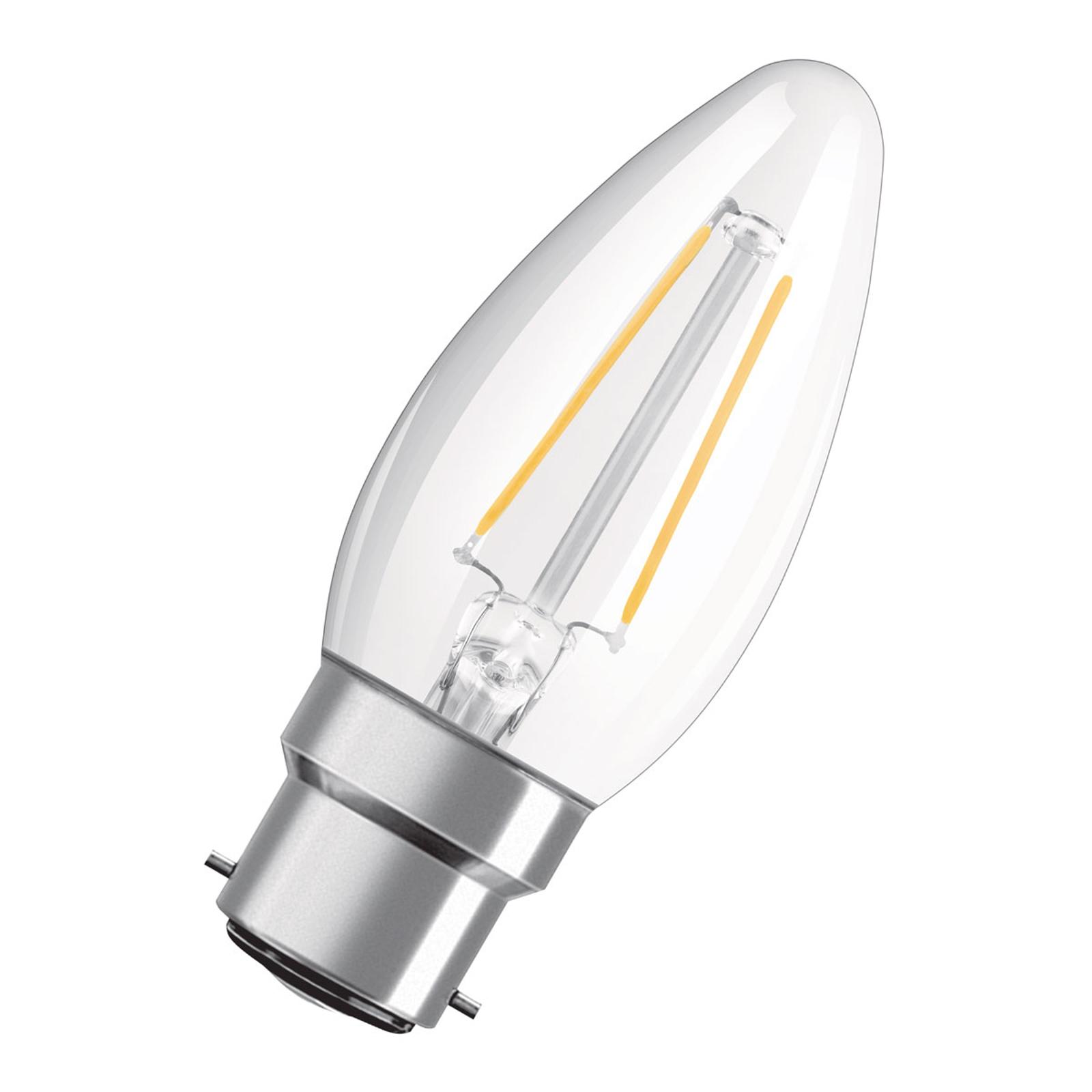 OSRAM bougie LED B22d Classic B filament 2,5W