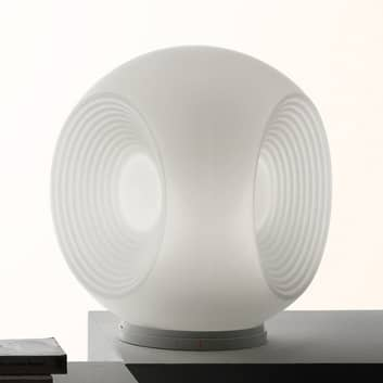 Fabbian Eyes - hvid bordlampe i glas