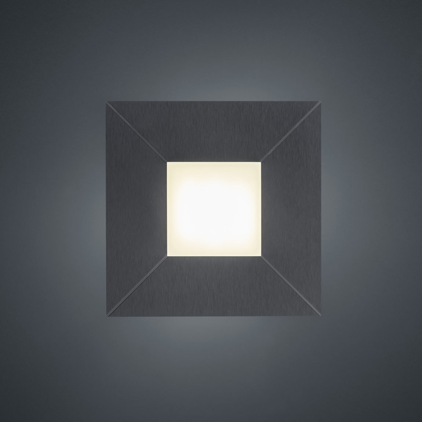 BANKAMP Diamond plafonnier 17x17cm, anthracite