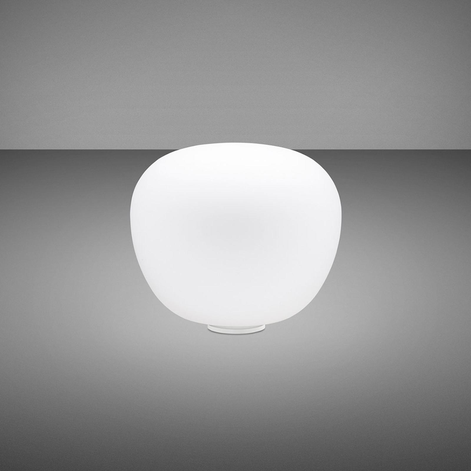 Fabbian Lumi Mochi tafellamp, liggend, Ø 20 cm