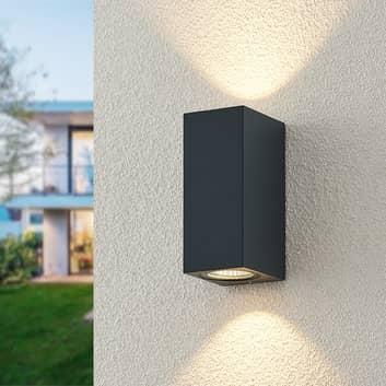 ELC Lanso utendørs LED-vegglampe, antrasitt