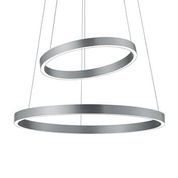 LED-Hängelampe Lora-P nickel matt, Gestensteuerung