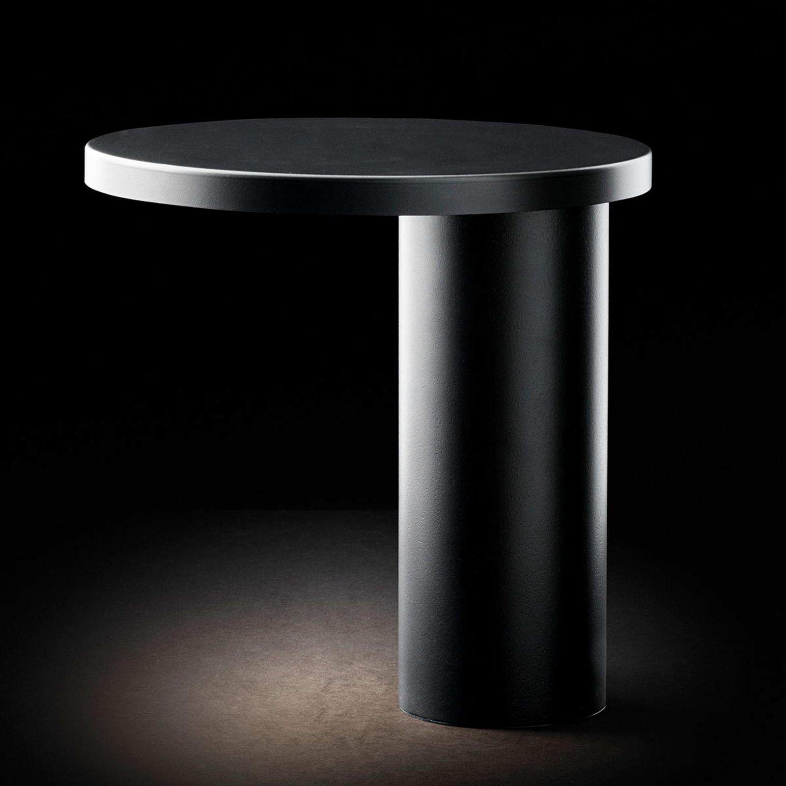 Oluce Cylinda lampe à poser LED noire