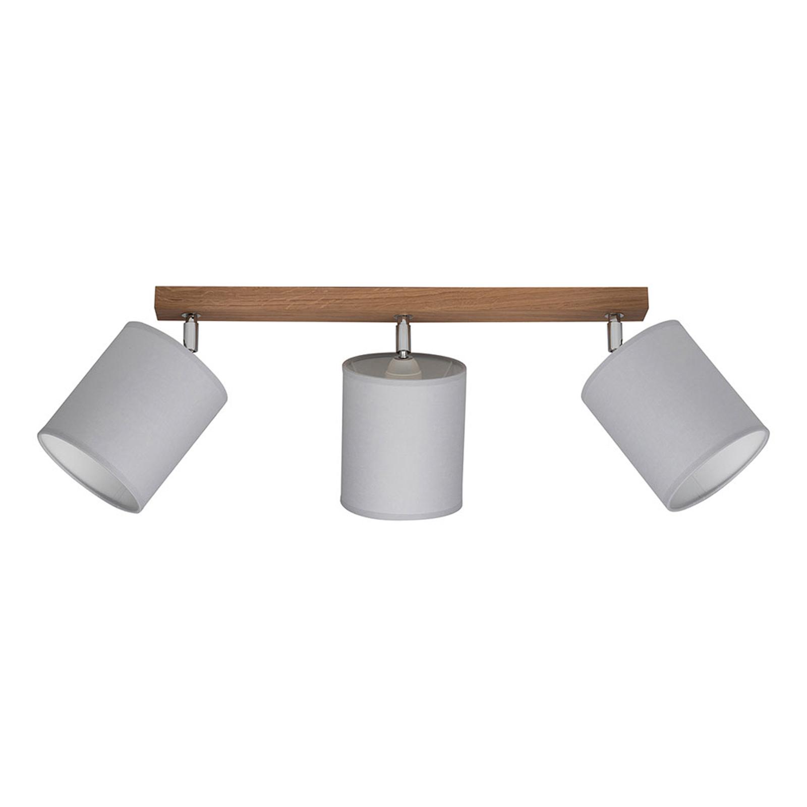 Spot pour plafond Corralee gris à 3 lampes
