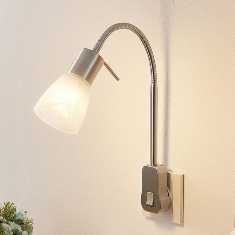 Lindby Nevyana stikkontaktlampe, flex-arm, kontakt