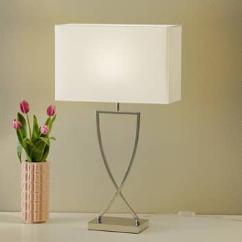 Lampe à poser Toulouse abat-jour en tissu, 68,5 cm