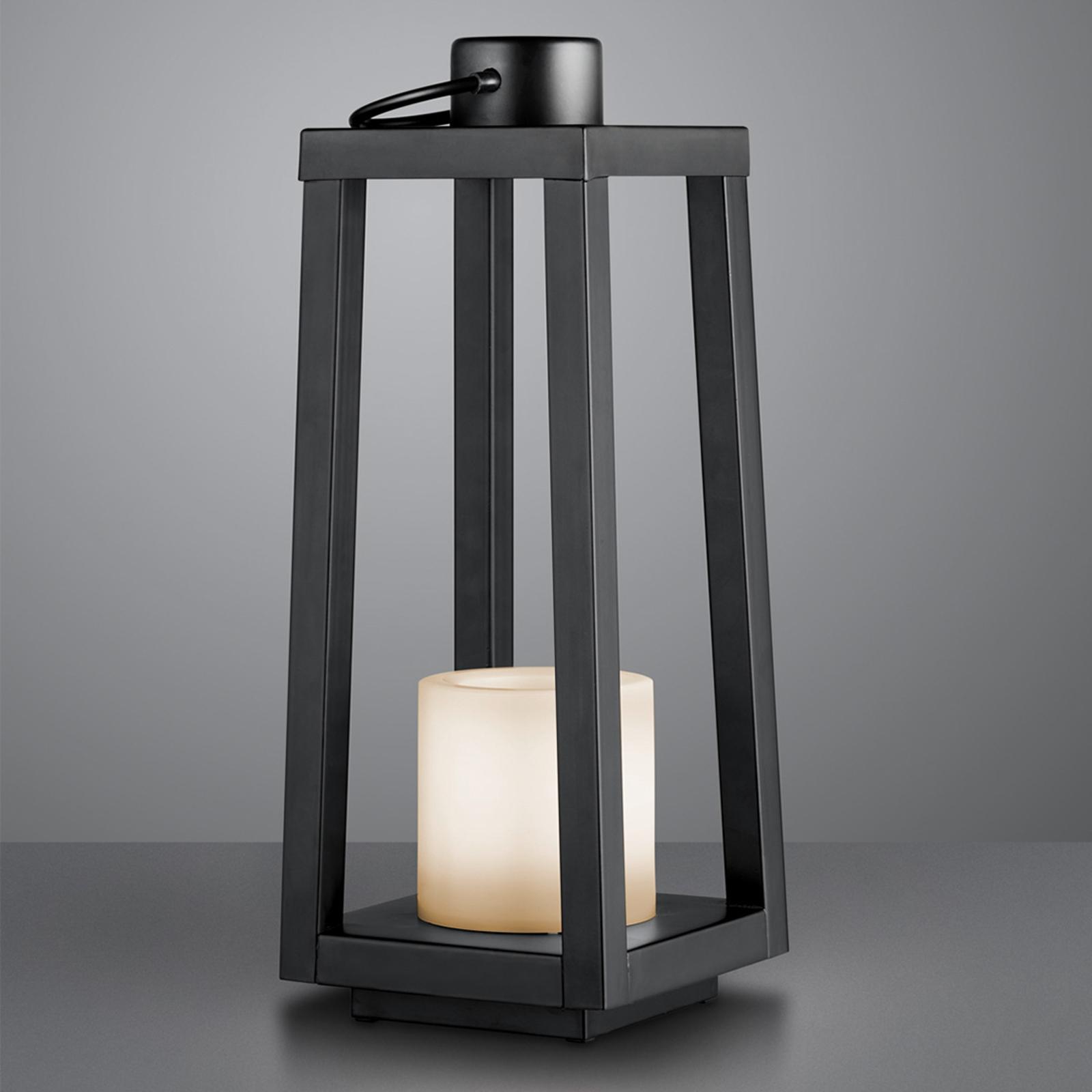 LED solární stojací lampa Loja s efektem plamene