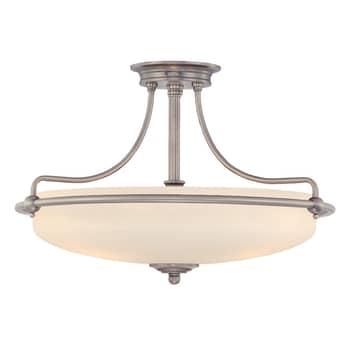 Deckenlampe Griffin mit Abstand, nickel, Ø 57 cm