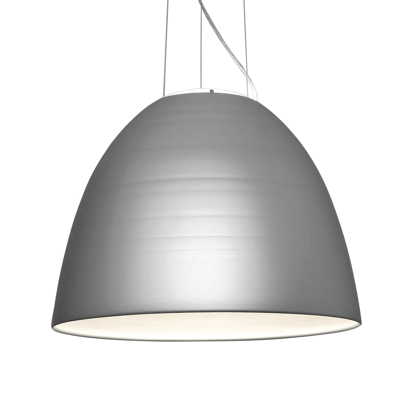 Artemide Nur 1618 suspension LED gris métal