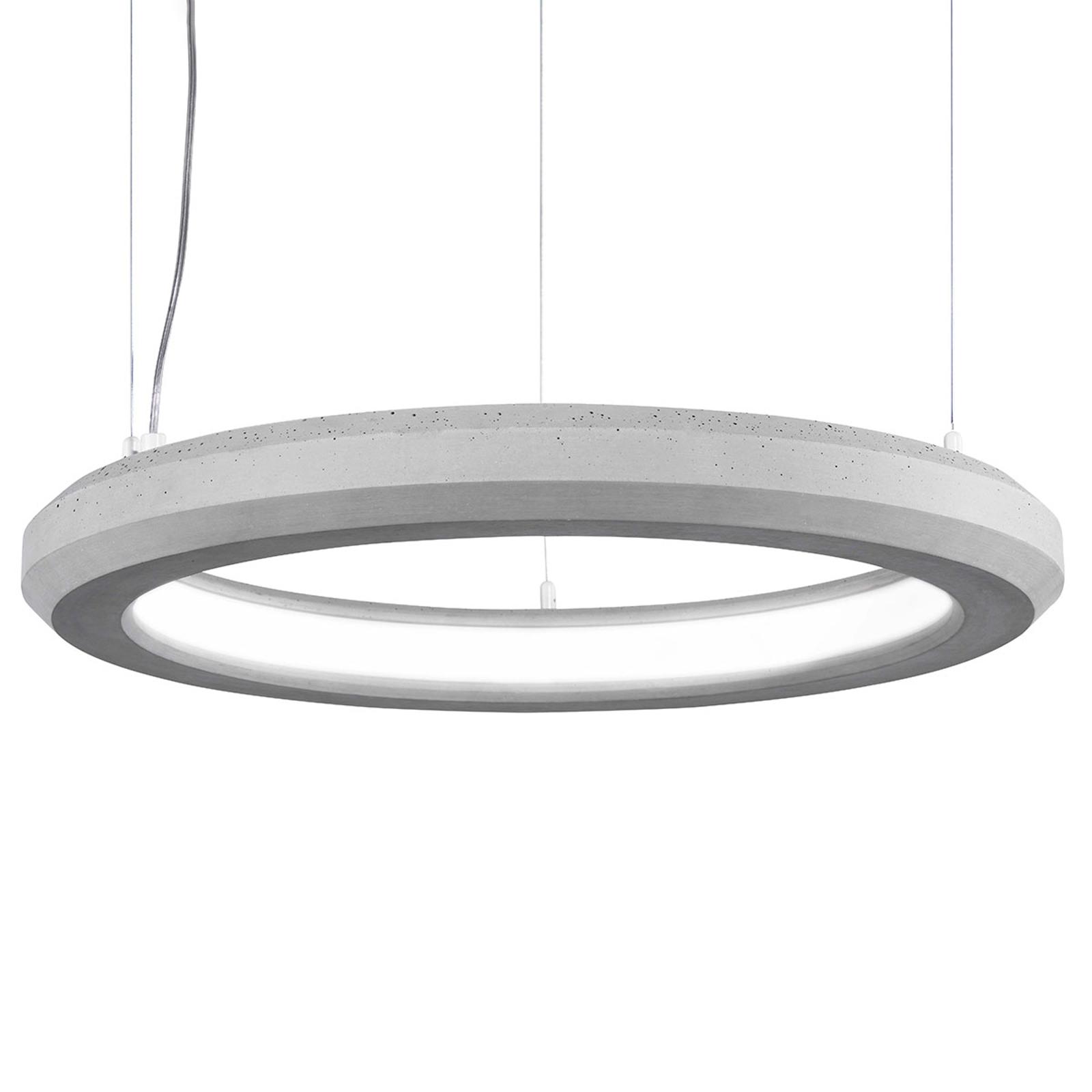 Lampa wisząca LED Materica wewnętrzna Ø 60cm beton