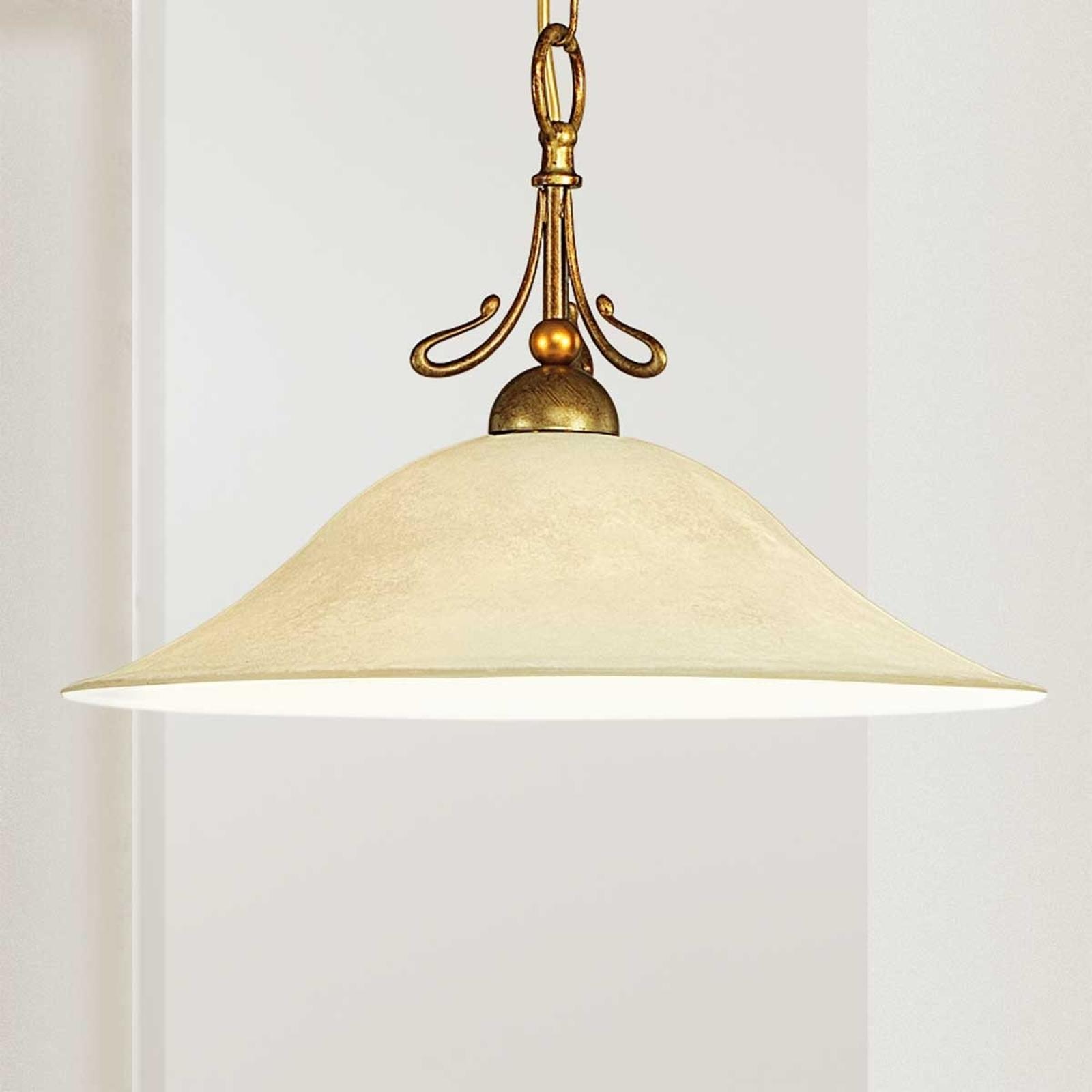 Lampa wisząca Antonio antyczny mosiądz