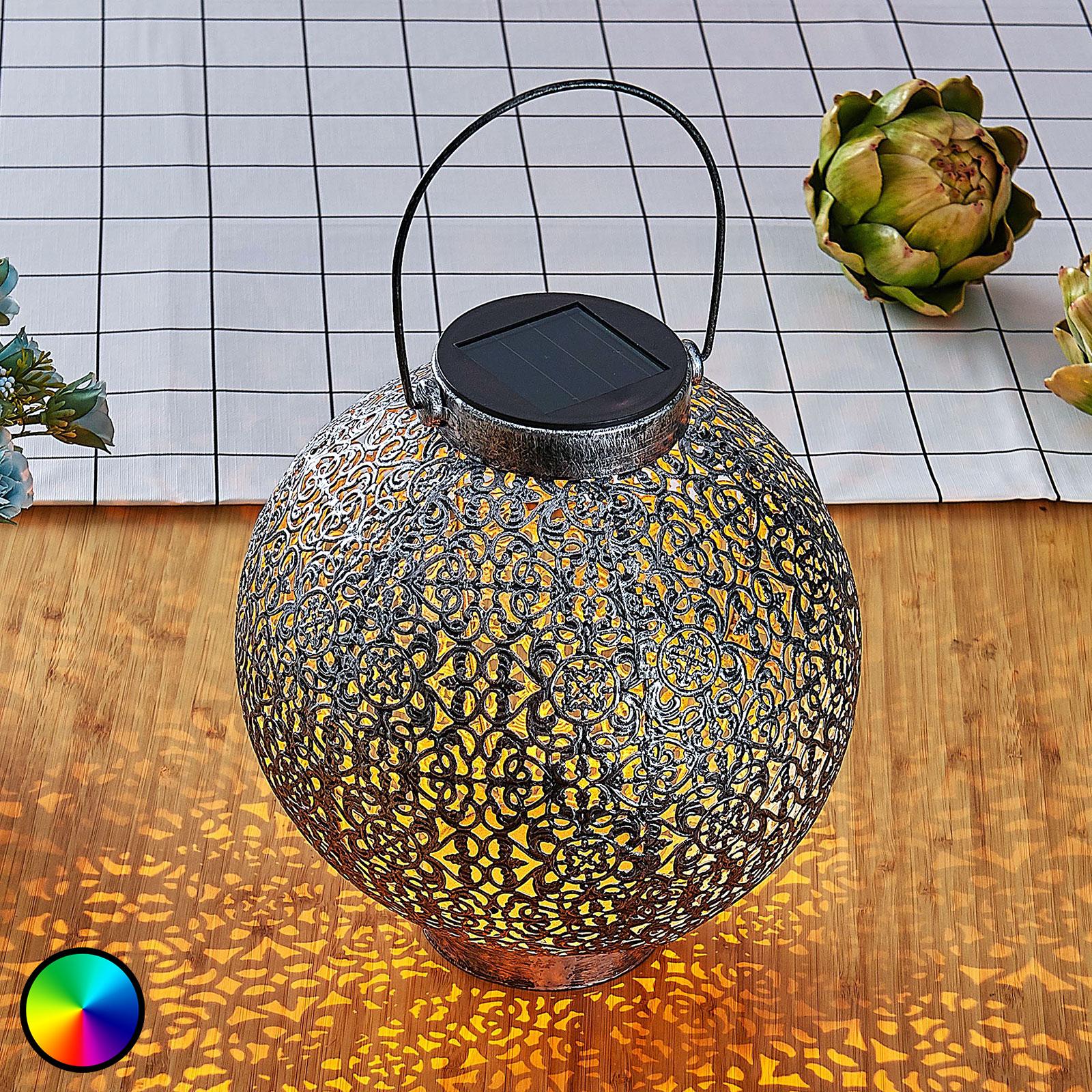 LED-RGB-solcellelykt Dunjaris, ornamenter, kobber