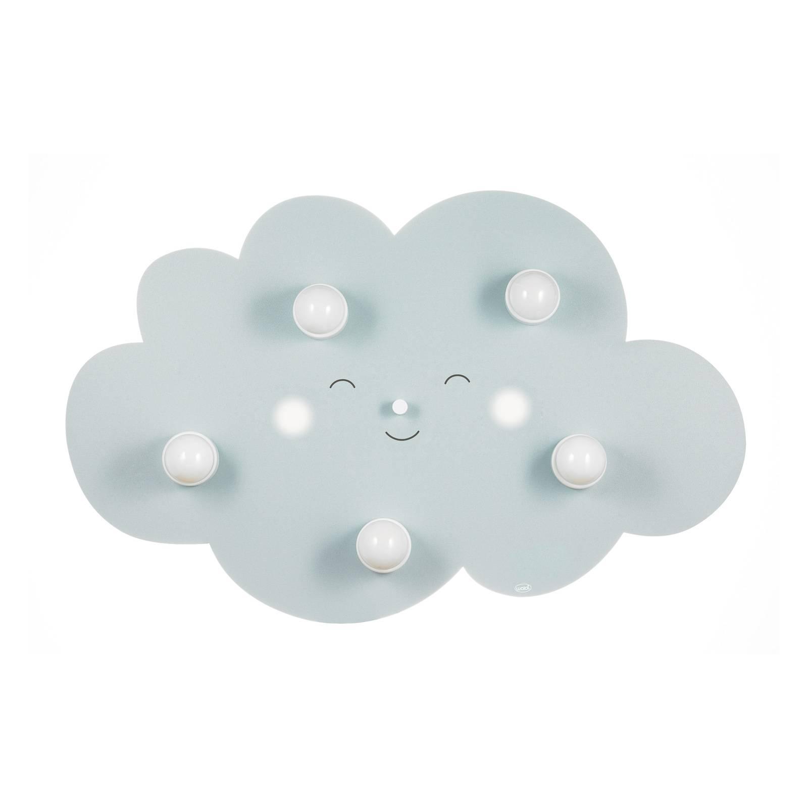 Deckenleuchte Wolkengesicht fünfflammig in Grau