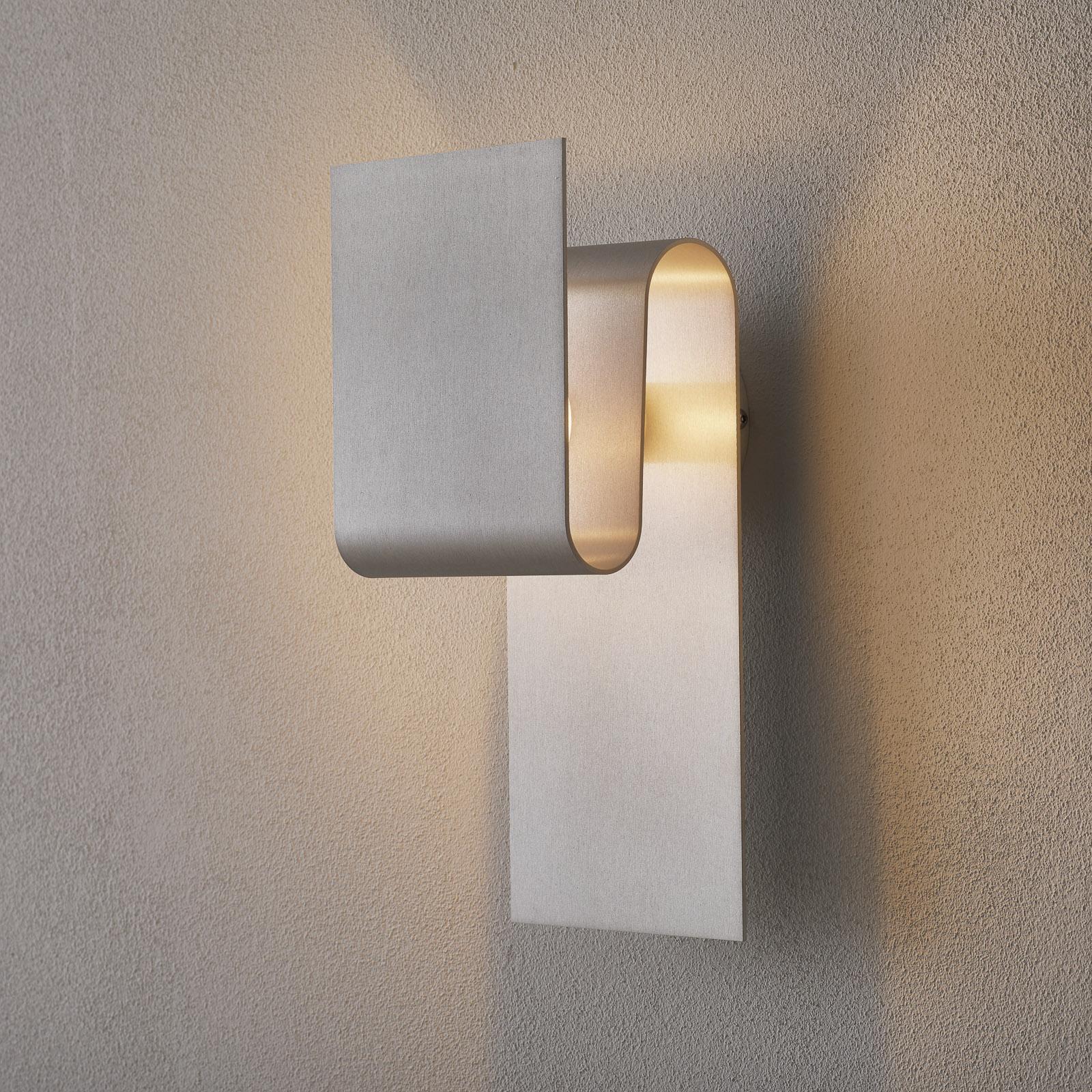 Indirect schijnende wandlamp Fold aluminium