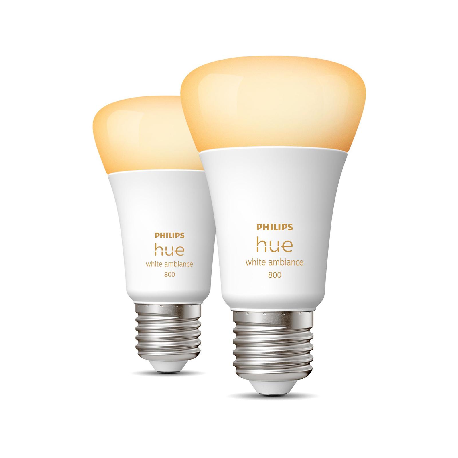 Philips Hue White Ambiance E27 8,5W, 2 stycken