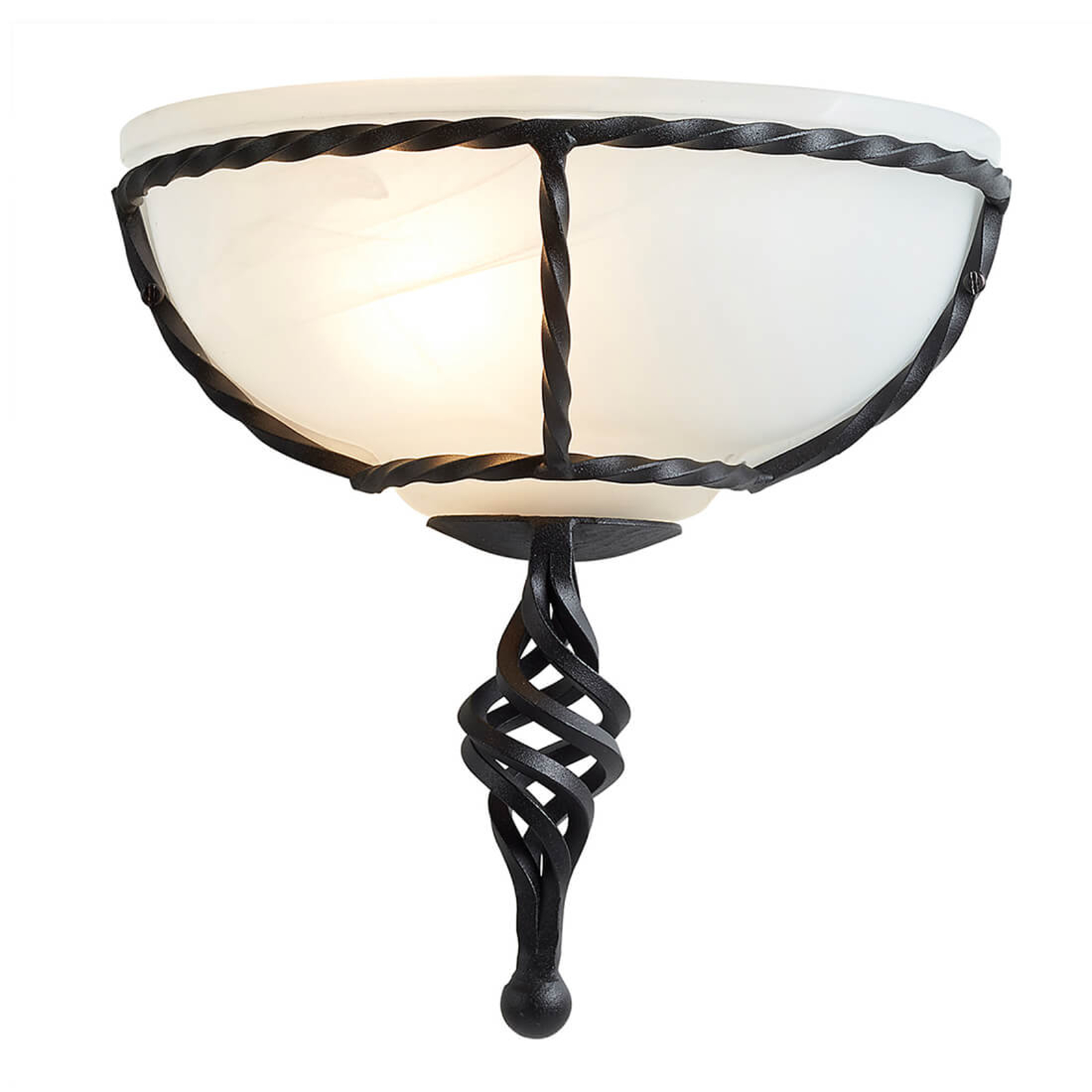 Wandlamp Pembroke, frame zwart
