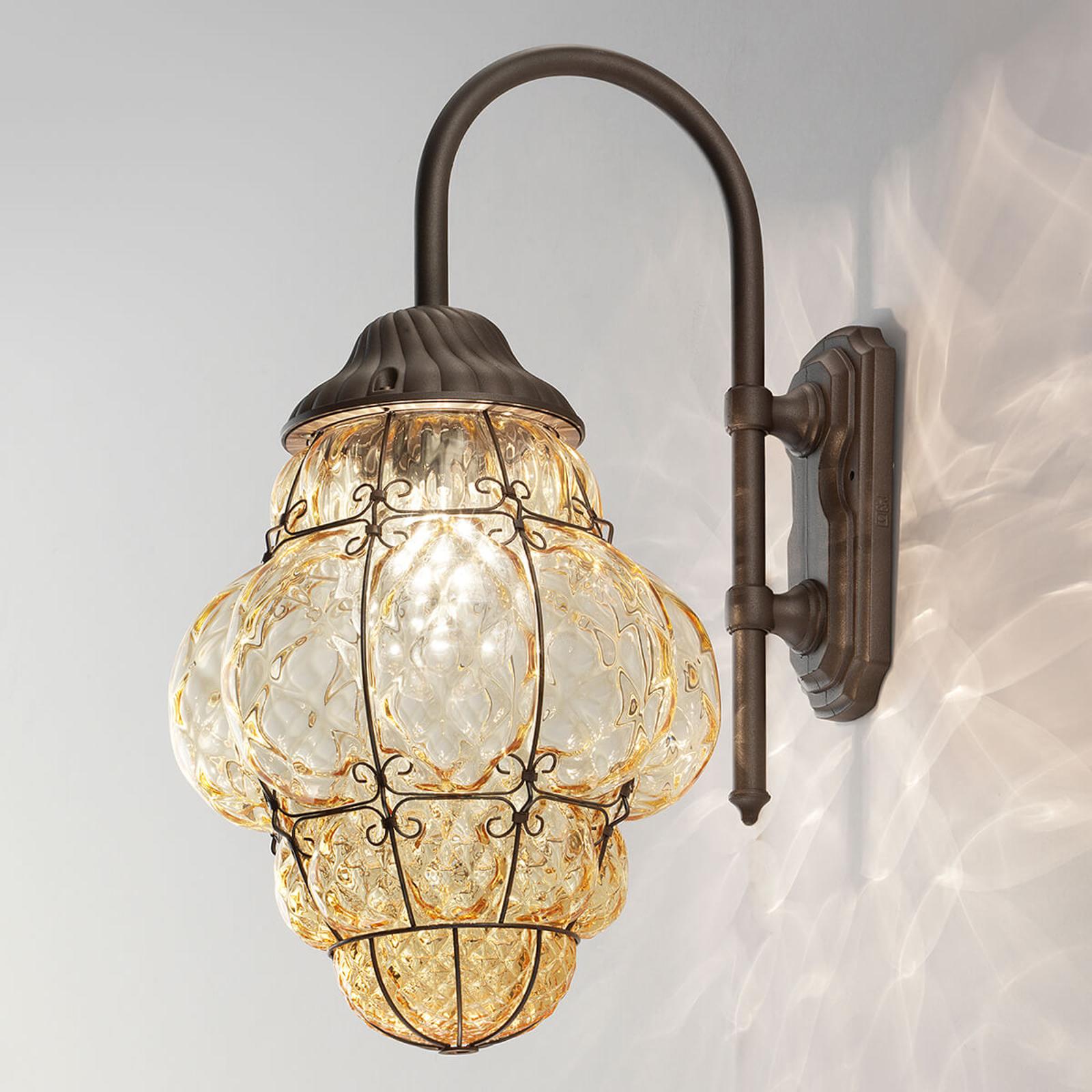 Buitenwandlamp Classic amber