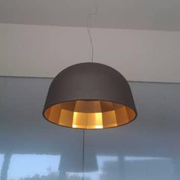 Oluce Empty - lampa wisząca LED brązowa, 59 cm