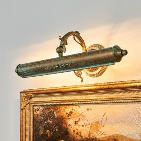 Lampa do obrazów Kalea zefektem patyny