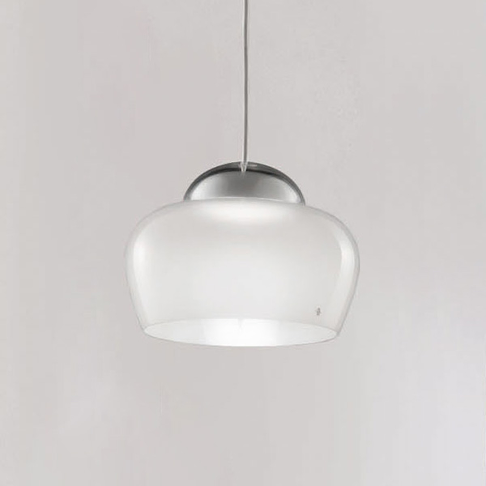 Lampa wisząca LED Cristallina biała