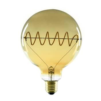 SEGULA LED globe G125 E27 8 W, kurvet, plus, guld