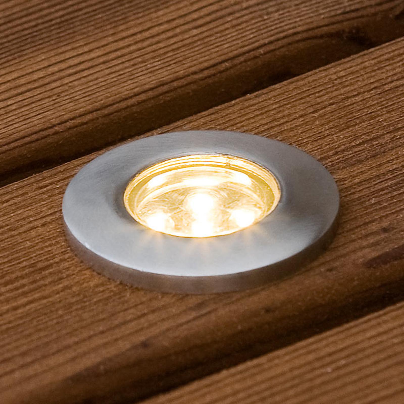 Upotettava mini-LED-maakohdevalaisin 6kpl litteä