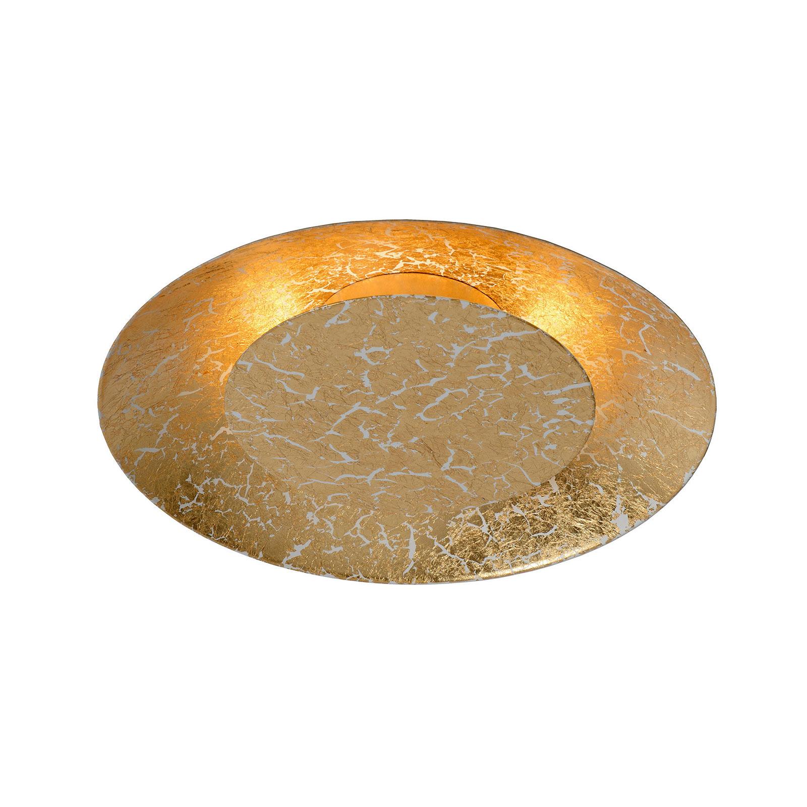 Foskal LED-taklampe messing, Ø 21,5 cm