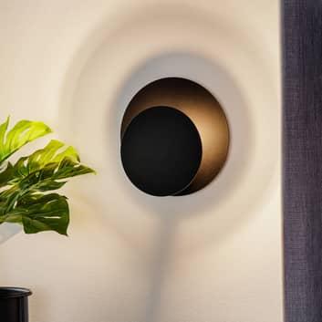 Wandlamp Cirle in ronde vorm, zwart
