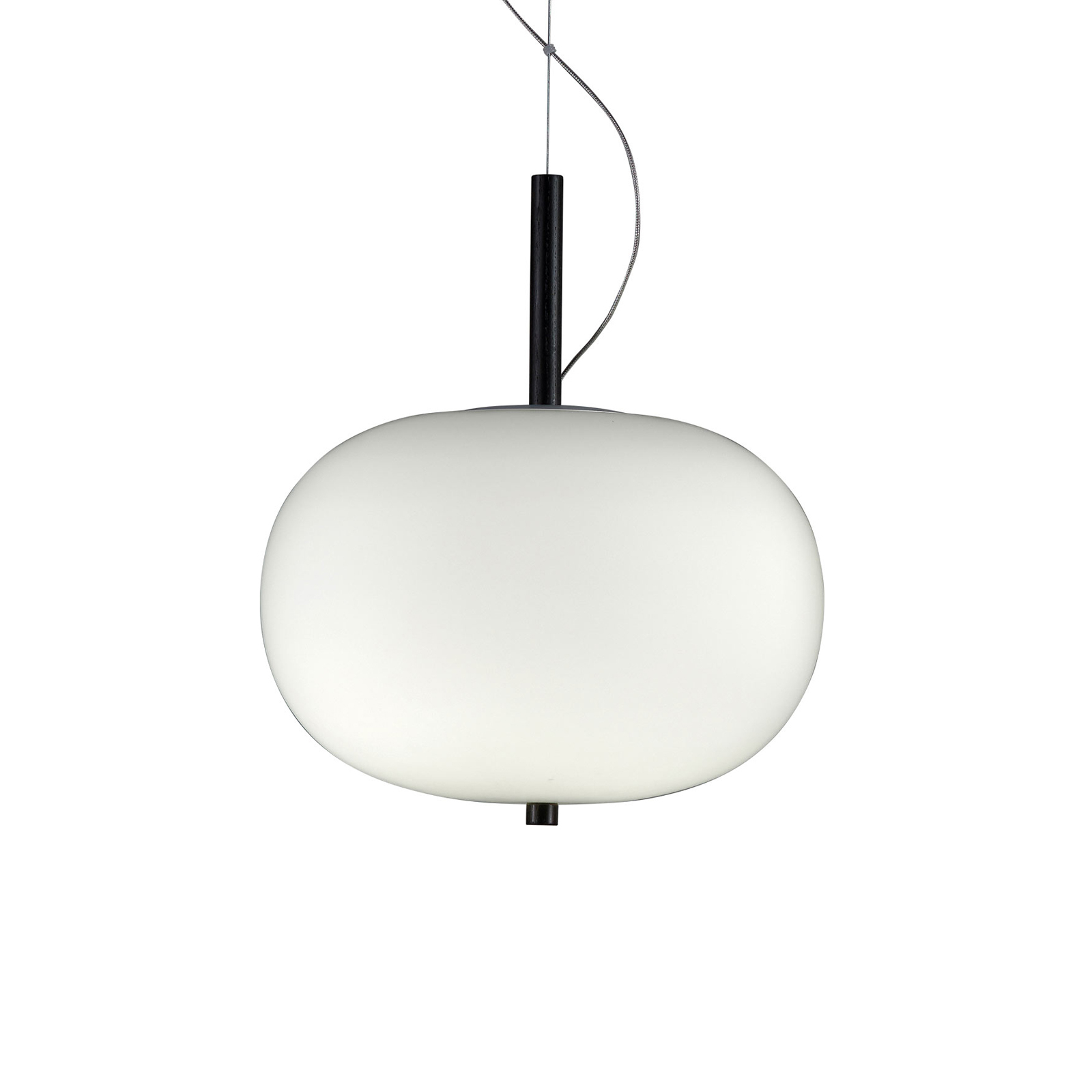 Grok Ilargi LED-Hängelampe Phase dunkel Ø 24 cm