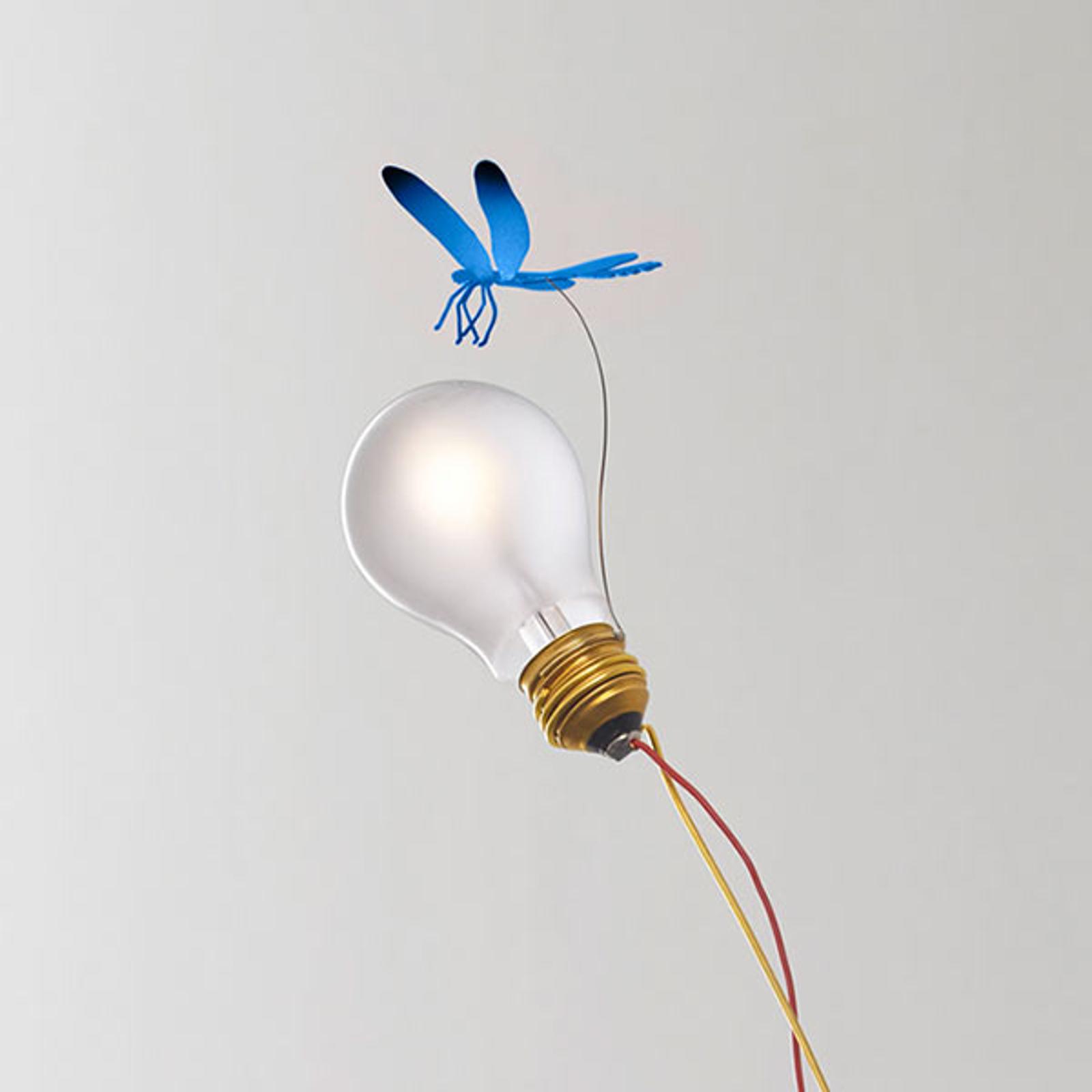 Tafellamp I Ricchi Poveri Bzzzz - blauwe libel