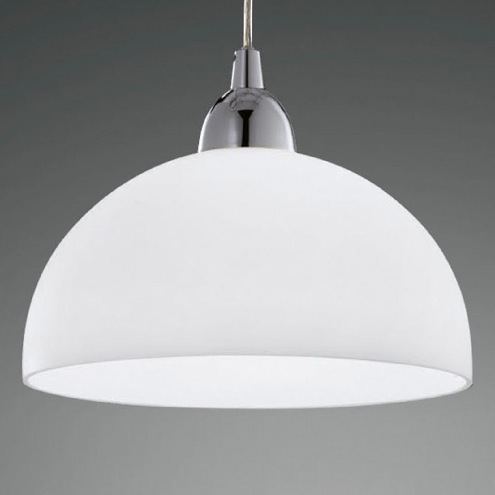 Lasinen Nice-riippuvalaisin, valkoinen, 26 cm
