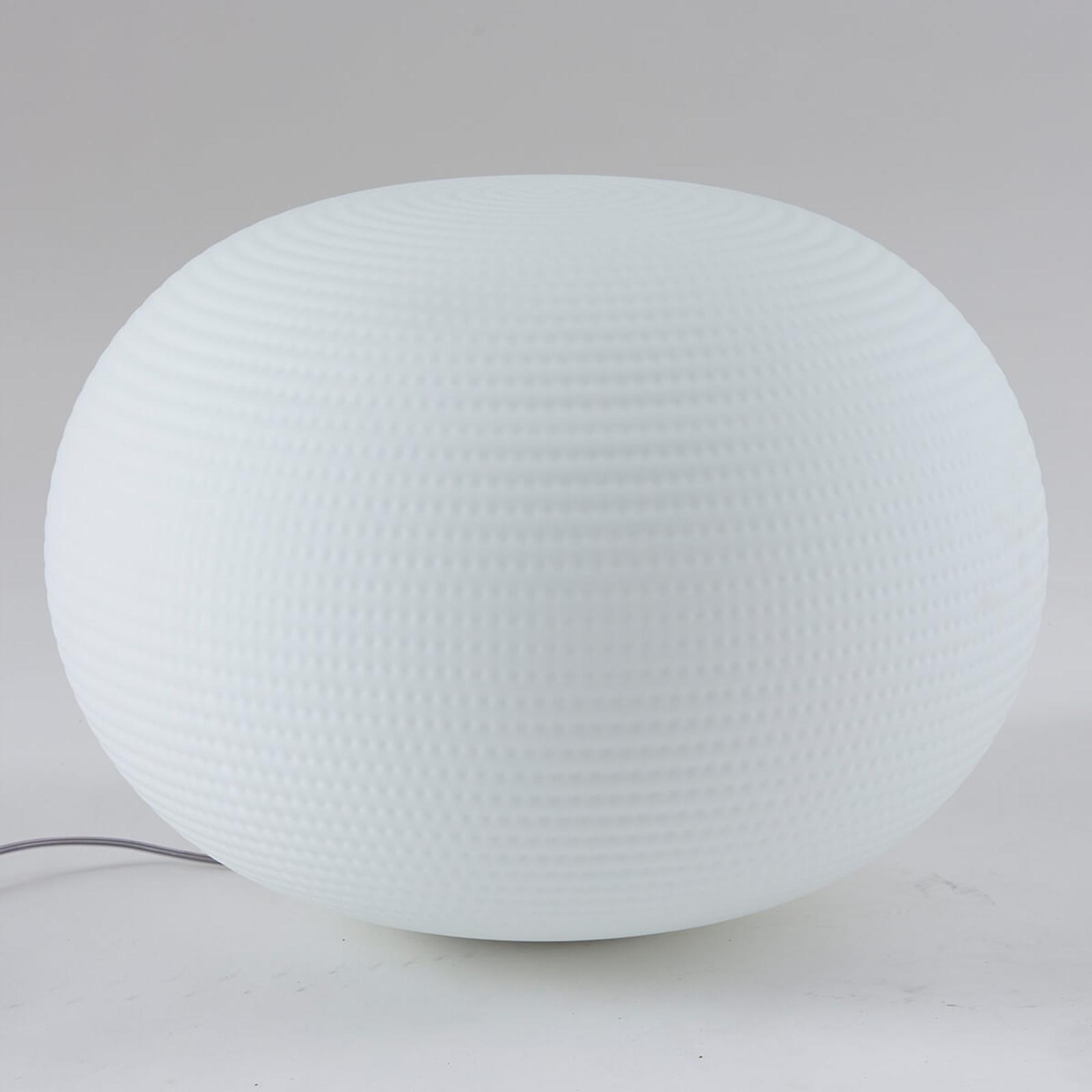 Acquista Lampada Da Tavolo Bianca Di Vetro 50 Cm Lampade It