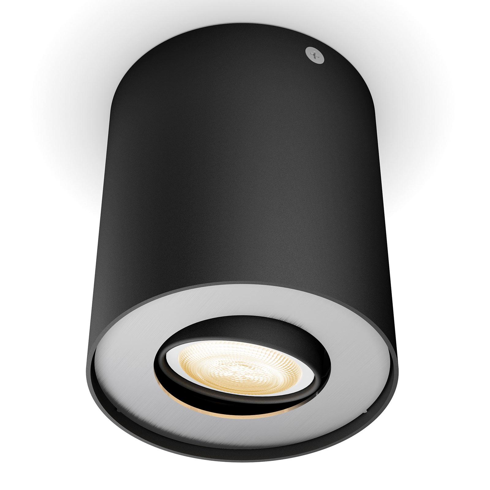Philips Hue Pillar spot LED avec variateur, noir