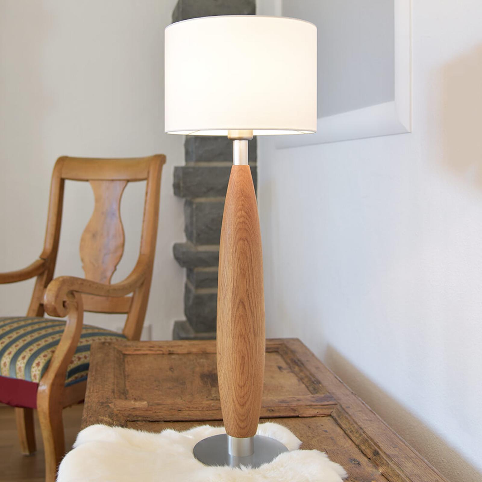 Chique tafellamp Paula met houten voet