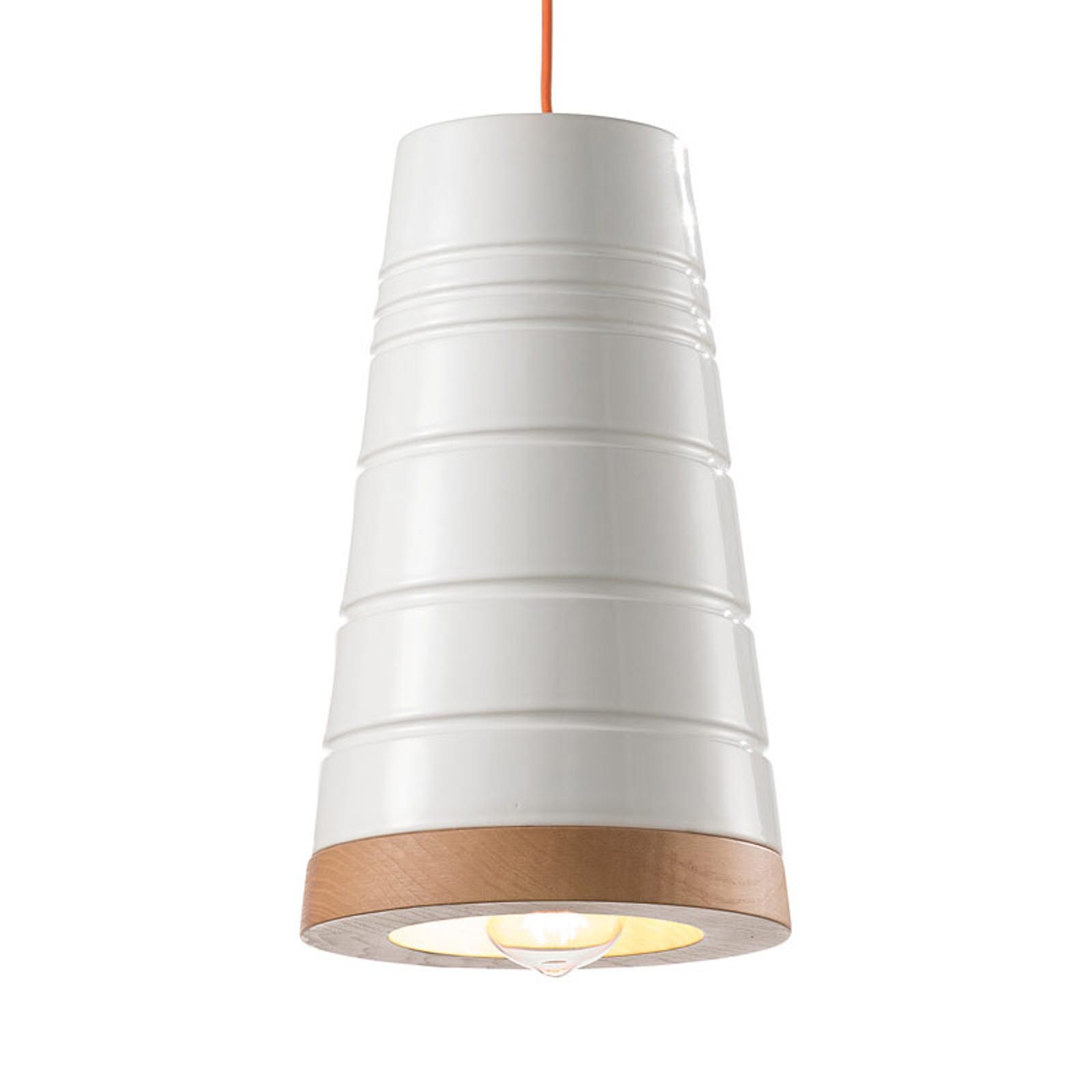 Skandinavisk, keramisk hængelampe C1785 hvid