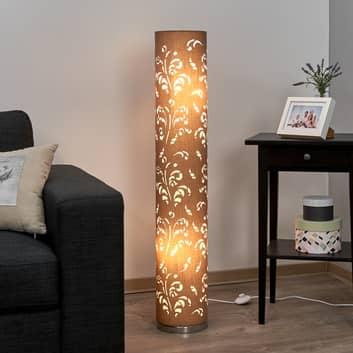 Staande lamp Flora cappuccino kap met decor