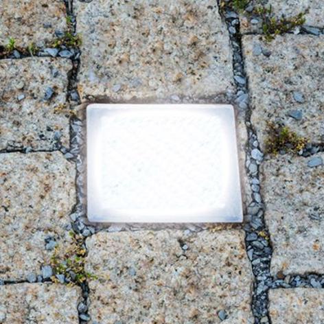 Betreedbare LED-grondinbouwlamp Straatsteen