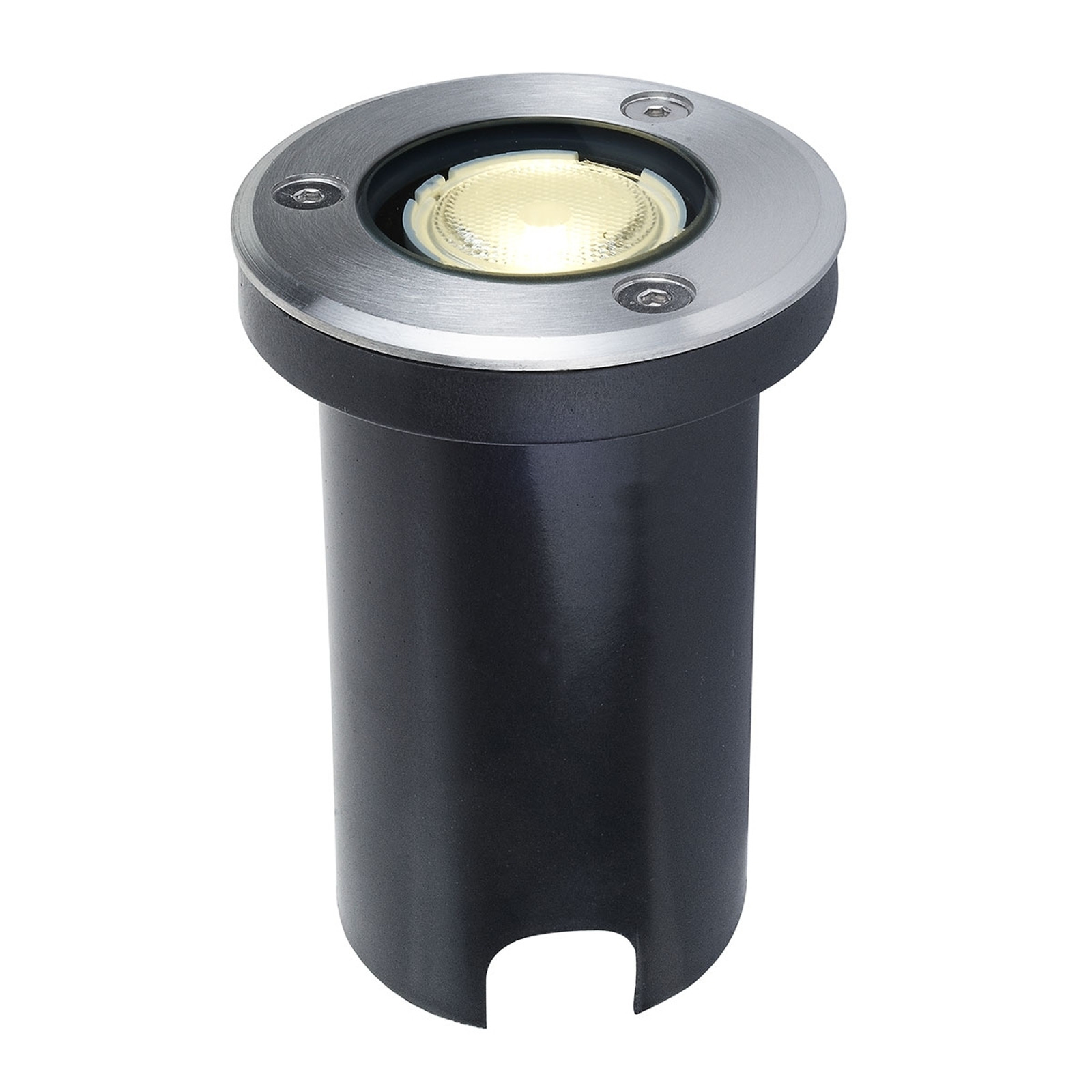 LED-gulvinnbyggingslampe Kenan, rustfritt stål