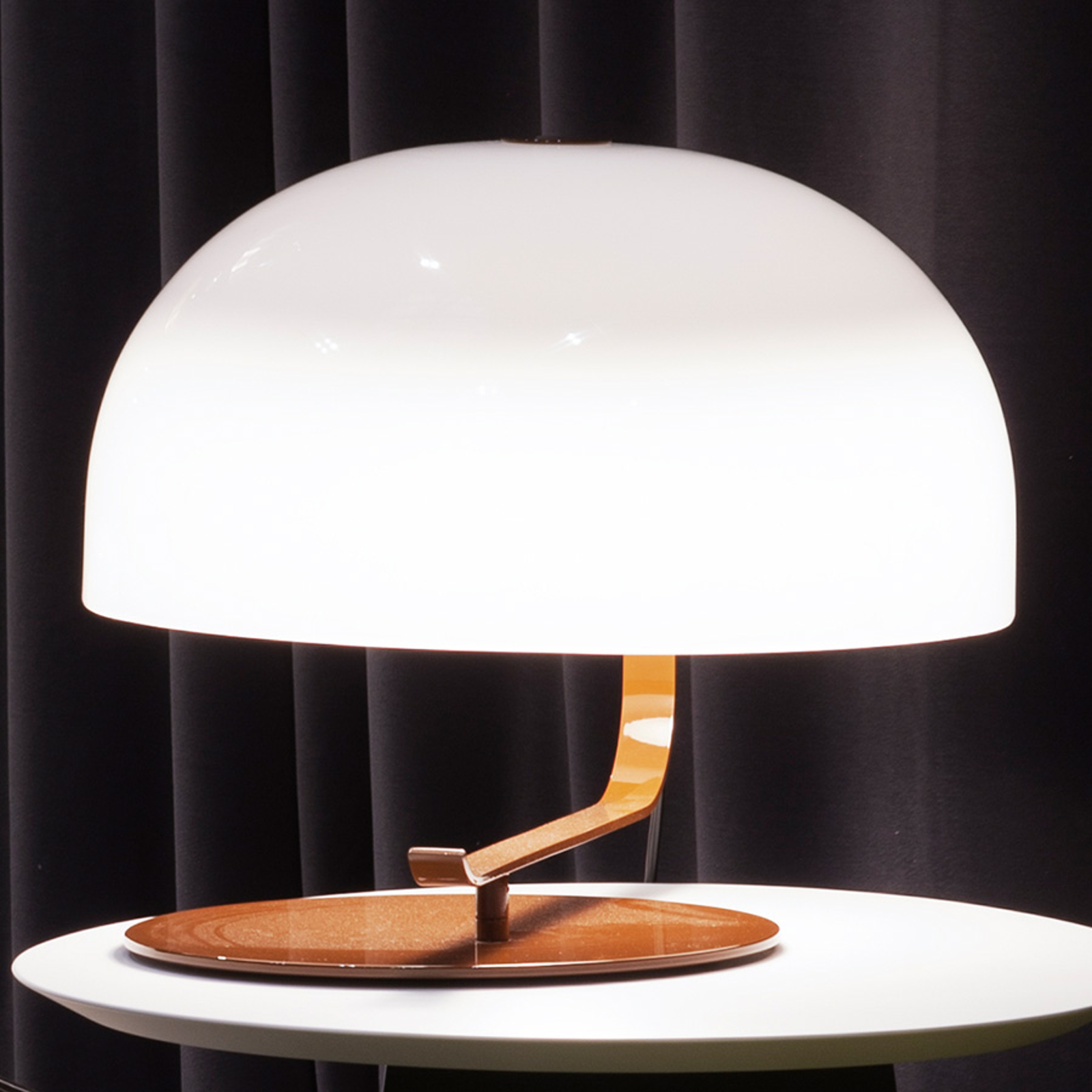 Lampada di design retrò Zanuso c. base marrone