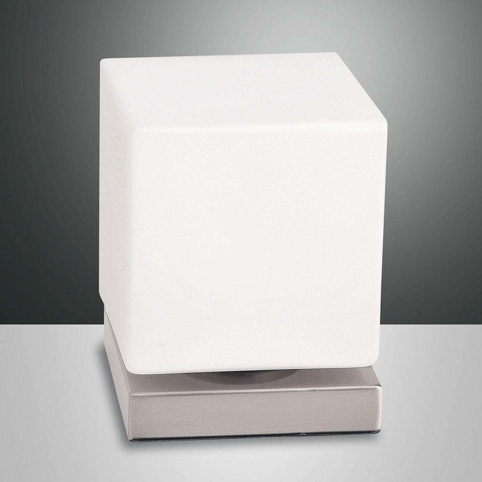 Mit Touchdimmer - LED-Tischleuchte Brenta nickel
