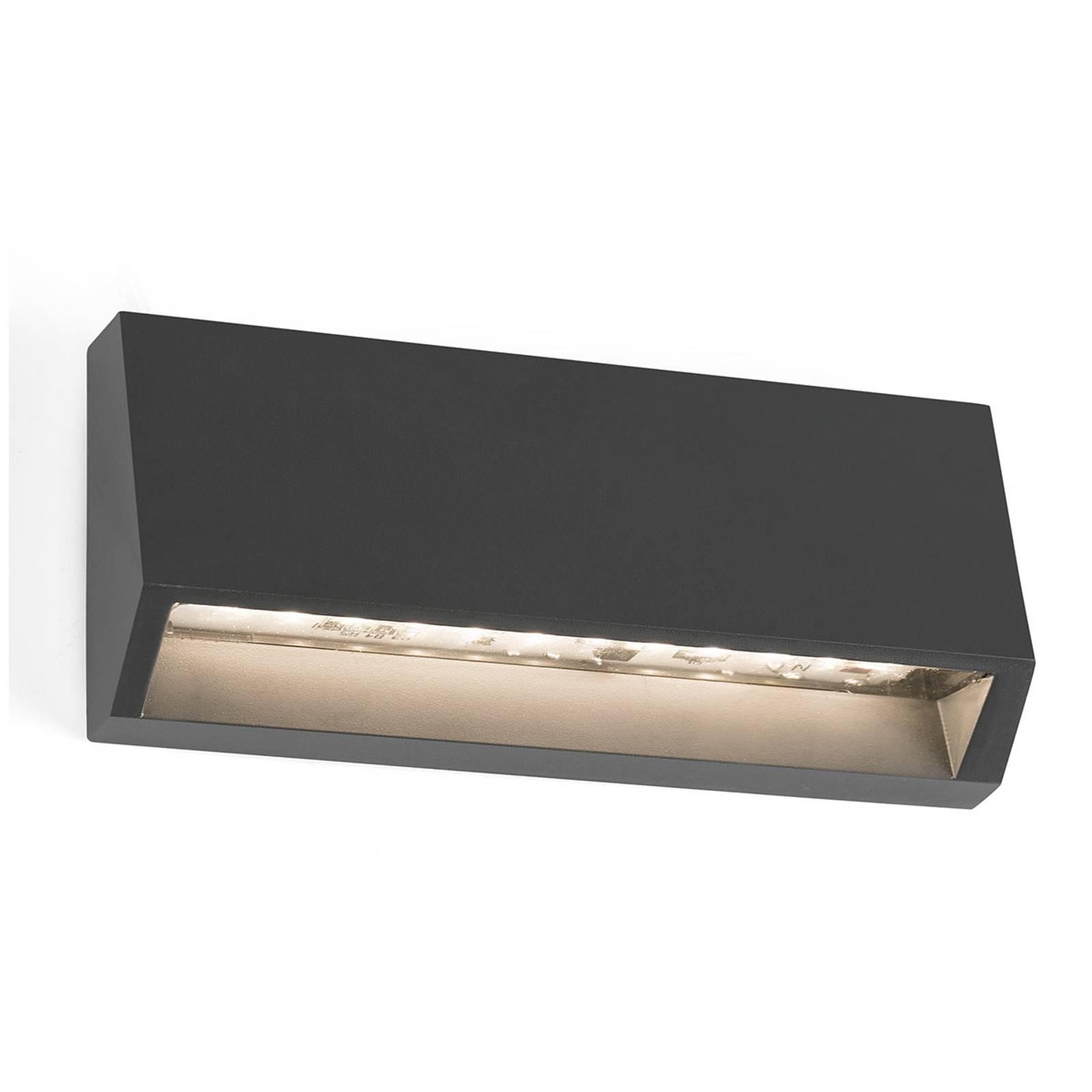 Hoekige LED buitenwandlamp Must - 15,8 cm