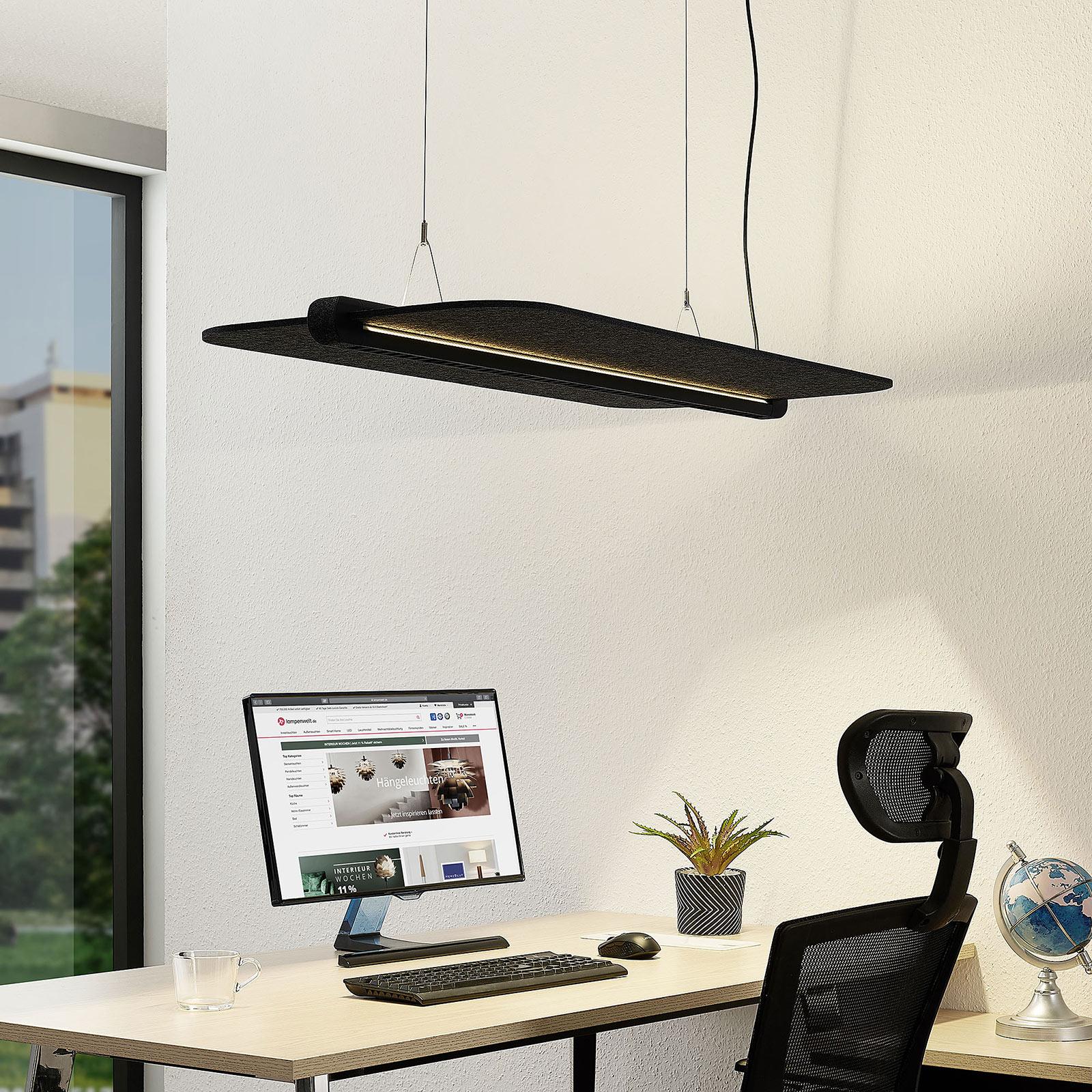 Arcchio Ameir biurowa lampa wisząca LED szary filc